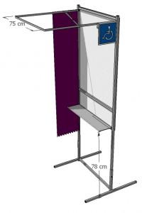 Isoloir de vote handicapé - Devis sur Techni-Contact.com - 3