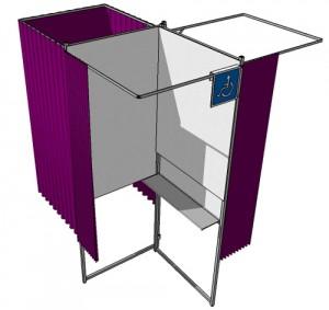 Isoloir électoral à 3 places - Devis sur Techni-Contact.com - 4