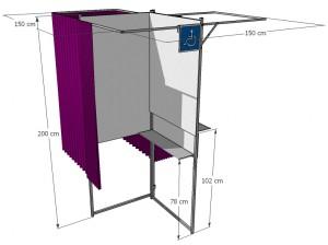 Isoloir électoral à 3 places - Devis sur Techni-Contact.com - 5