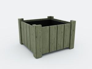 Jardinière d'extérieur carrée hauteur 60 cm - Devis sur Techni-Contact.com - 1