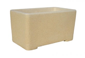 Jardinière en béton de forme rectangulaire - Devis sur Techni-Contact.com - 1