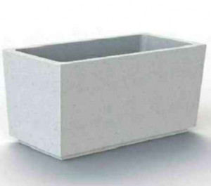 Jardinière en béton rectangulaire - Devis sur Techni-Contact.com - 1