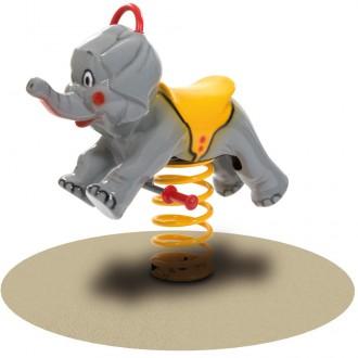 Jeu à bascule sur ressort éléphant - Devis sur Techni-Contact.com - 1