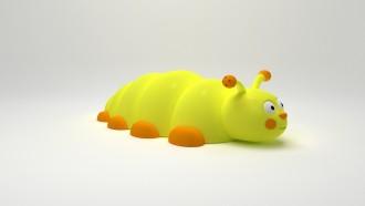 Jeu caoutchouc chenille 3D pour aire de jeux - Devis sur Techni-Contact.com - 1