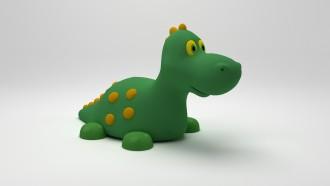 Jeu caoutchouc dino 3D pour aire de jeux - Devis sur Techni-Contact.com - 2