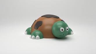 Jeu caoutchouc tortue 3D pour aire de jeux - Devis sur Techni-Contact.com - 1