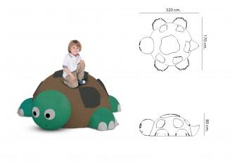 Jeu caoutchouc tortue 3D pour aire de jeux - Devis sur Techni-Contact.com - 2