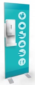 Kakemono distributeur de gel et de gants jetables - Devis sur Techni-Contact.com - 3