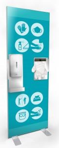 Kakemono distributeur de gel et de gants jetables - Devis sur Techni-Contact.com - 4