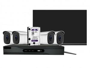 Kit vidéosurveillance 4 caméras - Devis sur Techni-Contact.com - 1