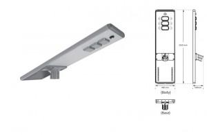 Lampadaire solaire LED avec batterie  - Devis sur Techni-Contact.com - 1