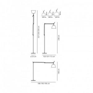 Lampadaire Tolomeo Mega avec Interrupteur ARTEMIDE - Devis sur Techni-Contact.com - 2
