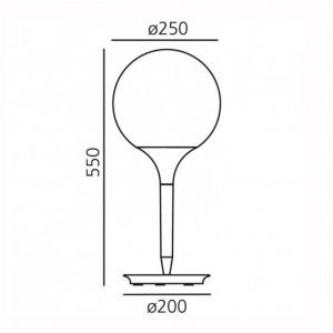 Lampe de Table Castore Ø25cm ARTEMIDE - Devis sur Techni-Contact.com - 2