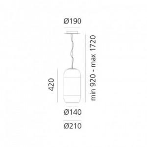 Lampe Suspendue LED Gople 20W ARTEMIDE - Devis sur Techni-Contact.com - 3
