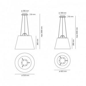 Lampe Suspendue Tolomeo Mega ARTEMIDE - Devis sur Techni-Contact.com - 2