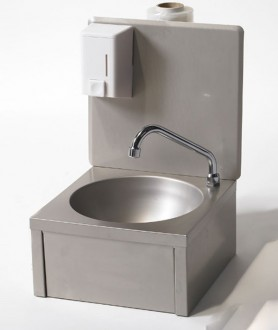 Lave-mains inox à dosseret - Devis sur Techni-Contact.com - 1