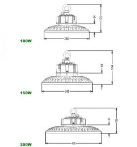 Plafonnier LED UFO 100 à 200W - Devis sur Techni-Contact.com - 3