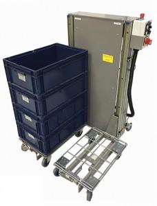 Empileur dépileur de bacs à hauteur ergonomique - Devis sur Techni-Contact.com - 1
