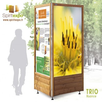 Location totem d'affichage bois - Devis sur Techni-Contact.com - 2