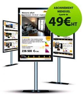 Logiciel affichage dynamique agence immobilière - Devis sur Techni-Contact.com - 1