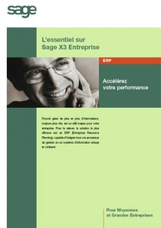 Logiciel SAGE ERP X3 premium edition - Devis sur Techni-Contact.com - 1