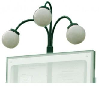 Luminaire 3 boules pour porte menu - Devis sur Techni-Contact.com - 1