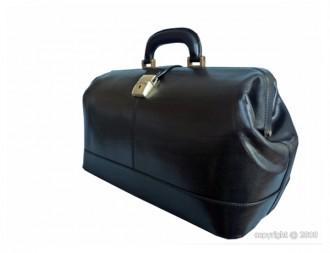 Mallette médicale en cuir noir - Devis sur Techni-Contact.com - 2