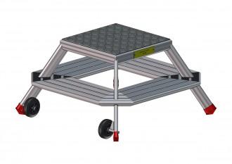 Marche pieds Trapézoïdal aluminium - Devis sur Techni-Contact.com - 1