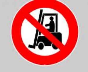 Marquage au sol adhésif interdiction chariot - Devis sur Techni-Contact.com - 1