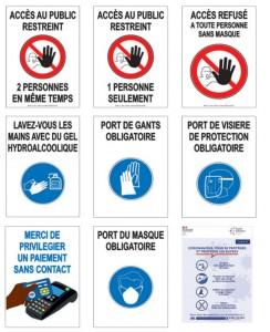 Affiche gestes barrières prévention Covid - Devis sur Techni-Contact.com - 1
