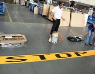 Marquage peinture de sol industriel - Devis sur Techni-Contact.com - 2