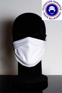 Masque catégorie 1 (blanc ou noir) DGA AFNOR lavable à 60° - Devis sur Techni-Contact.com - 1