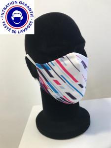 Masque catégorie 1 (blanc ou noir) DGA AFNOR lavable à 60° - Devis sur Techni-Contact.com - 2