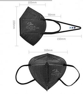 Masque FFP2  noir - Devis sur Techni-Contact.com - 2