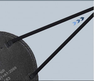 Masque FFP2  noir - Devis sur Techni-Contact.com - 3