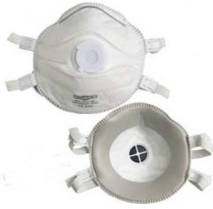 Masque respiratoire FFP3D classique avec valve et dolomie - Devis sur Techni-Contact.com - 1