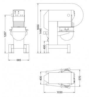 Mélangeur électrique Electrolux 80 litres - Devis sur Techni-Contact.com - 2
