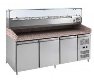Meuble à pizza 3 portes avec kit réfrigéré - Devis sur Techni-Contact.com - 1