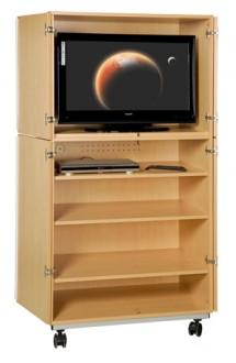Meuble audiovisuel scolaire 4 portes - Devis sur Techni-Contact.com - 1