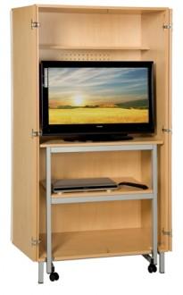 Meuble audiovisuel scolaire avec table roulante - Devis sur Techni-Contact.com - 2