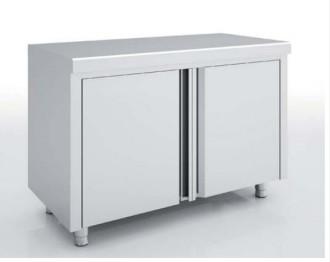 Meuble avec portes battantes inox - Devis sur Techni-Contact.com - 1