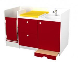 Meuble compact avec vasque crèche - Devis sur Techni-Contact.com - 1