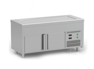 Meuble froid pour restaurant self service réglables en hauteur - Devis sur Techni-Contact.com - 1