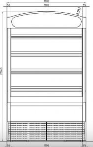 Meuble ouvert mural 4 étagères inclinables - Devis sur Techni-Contact.com - 4