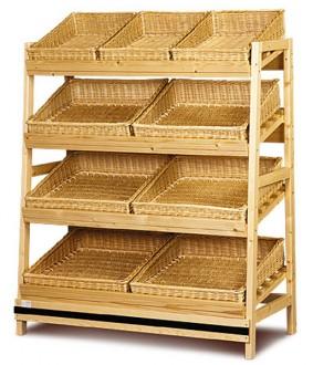 Meuble présentoir pain en osier - Devis sur Techni-Contact.com - 1
