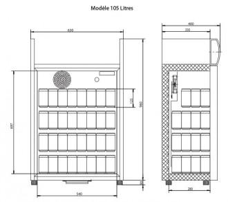 Mini frigo à porte vitrée - Devis sur Techni-Contact.com - 6