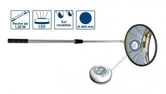 Miroir d'inspection rond LED et roulettes - Devis sur Techni-Contact.com - 2