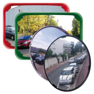 Miroir de surveillance multi-usages cadre rouge - Devis sur Techni-Contact.com - 3
