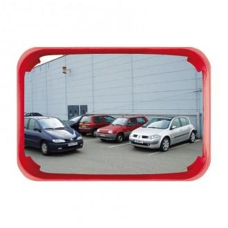 Miroir de surveillance polyvalent cadre rouge - Devis sur Techni-Contact.com - 1