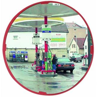 Miroir de surveillance polyvalent cadre rouge - Devis sur Techni-Contact.com - 2